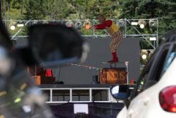 [포토]새로운 방식, '드라이브 인' 서커스 축제