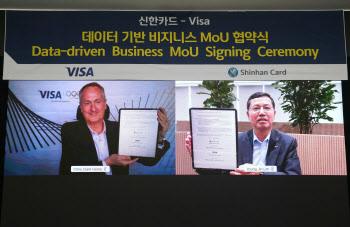 신한카드-VISA, 데이터 비즈니스 협약..ADB 판매 계약 진행