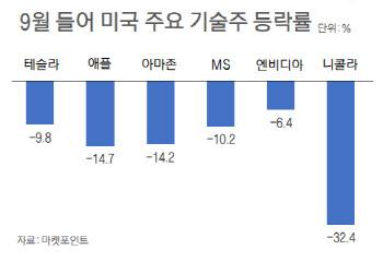 잠 못드는 서학개미…니콜라·테슬라·애플로만 이달 1조 손실