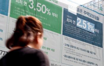 8월 은행 대출금리 사상최저인 2.63%…CD금리 등 시장금리 하락 여파