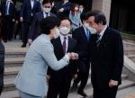 """이낙연 만난 추미애 """"공수처, 文 의견 따라 모범될 것"""""""