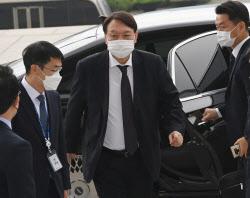 [포토]국정감사, '국회 도착한 윤석열 검찰총장'