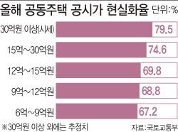 [단독]서울 아파트 절반, 9억 아래도 '공시가 현실화' 사정권