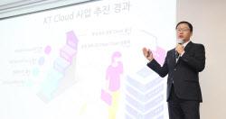 [포토]구현모 대표, KT 클라우드 사업 추진 경과 설명
