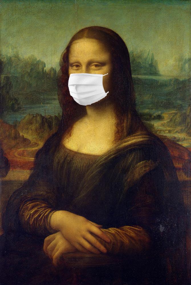 마스크를 쓴 모나리지
