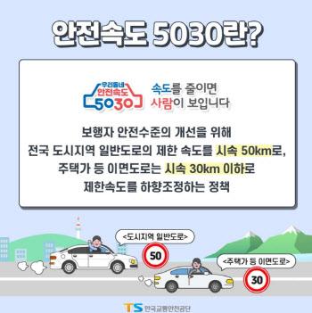 의정부시, 교통사고 사망자 감축 추진…′안전속도5030′ 정착 총력