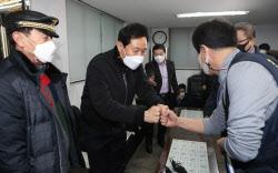 [포토]오세훈 전 시장, '택시업계 의견 청취'