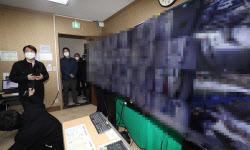 [포토]남산생활치료센터 방문한 안철수 국민의당 대표