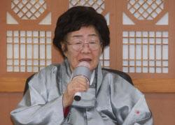 [포토]정의용 외교부 장관과 면담 마친 일본군 위안부 피해자 이용수 할머니