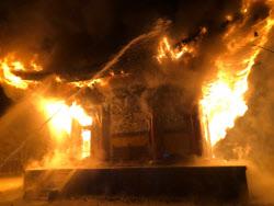 [포토] 정읍 내장사 대웅전서 화재