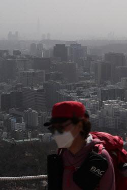 [포토] Прогноз желтой пыли из Китая, необходимо надевать маску