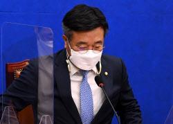[포토]비상대책회의 참석하는 윤호중 위원장