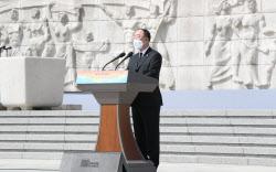 [포토]홍남기 국무총리 직무대행, 4·19혁명 제61주년 기념식