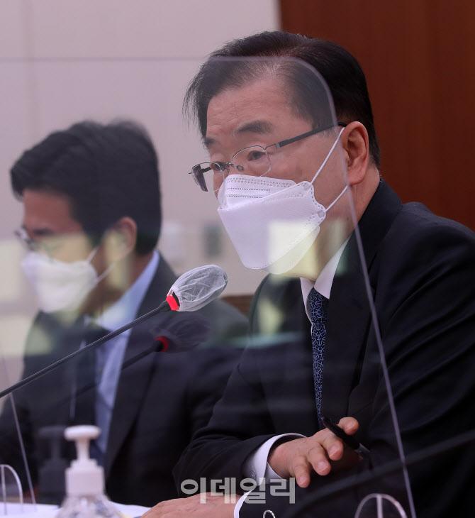 후쿠시마 오염수 관련 답변하는 정의용 장관