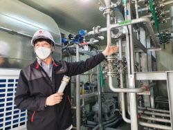 [르포]年20만톤 CO2 잡는 화학공장…롯데케미칼 'ESG' 첨병 나선다