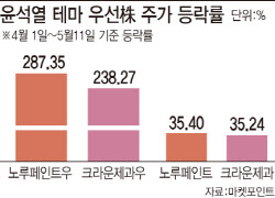 윤석열 테마, 이젠 '우선주'까지 급등… 투자주의보