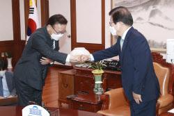 [포토]김부겸 신임 국무총리, '박병석 국무총리 예방'