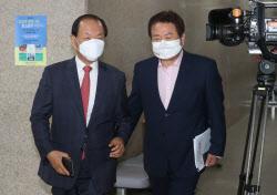 [포토]국민의힘 선거관리위원회의 참석하는 황우여-정양석