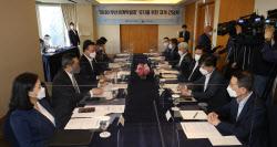 [포토] 부산엑스포 유치 간담회 참석한 김 총리