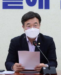 [포토]윤호중 더불어민주당 원내대표 정책조정회의 발언