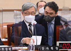 [포토]법사위, '자료 전달받는 최재형 감사원장'