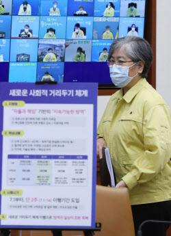 [포토]중대본 회의 참석하는 정은경 질병관리청장