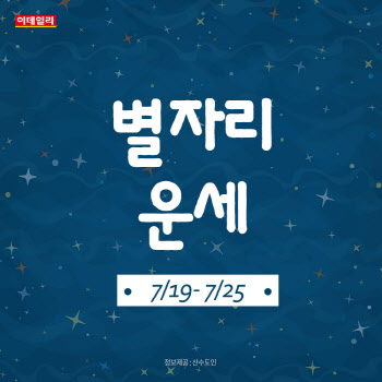 [카드뉴스]2021년 7월 넷째 주 '별자리 운세'