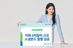NH농협은행, 미화 6억달러 규모 소셜본드 발행 성공