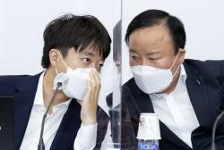 [포토]이준석 대표-김재원 최고위원, 무슨 이야기 중?