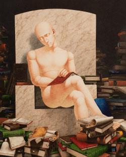[e갤러리] AI도 독서는 피곤하다…이지환 '이래야 사람이지-독서'