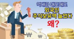 [뉴스+]외국인, 역대급 매도세에도 보유금액 늘어난 이유는?