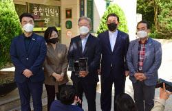 [포토]'추석 연휴, 동작소방서 방문한 이재명'