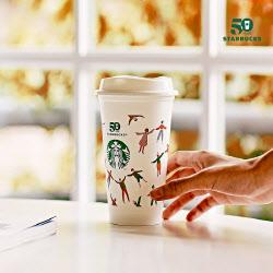 스타벅스, 28일 하루 음료 주문시 특별 디자인 '다회용컵' 제공