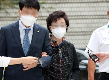 [포토]윤석열 장모, '요양급여 불법 수급' 석방 후 첫 재판 출석