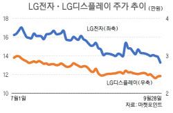 흔들리는 LG그룹株…목표가 줄하향