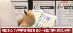 (영상)취업자수 7년반만에 최대폭 증가…내달 위드 코로나 전환