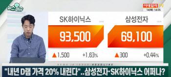 """(영상)""""내년 D램 가격 20% 내린다""""..삼성전자·SK하이닉스 어쩌나?"""