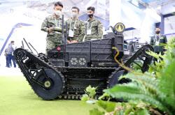 [포토]군에서 사용되는 무인 자율 터널탐사 로봇