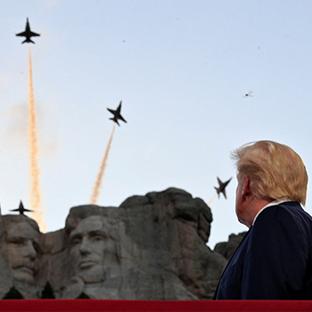트럼프의 시선은?
