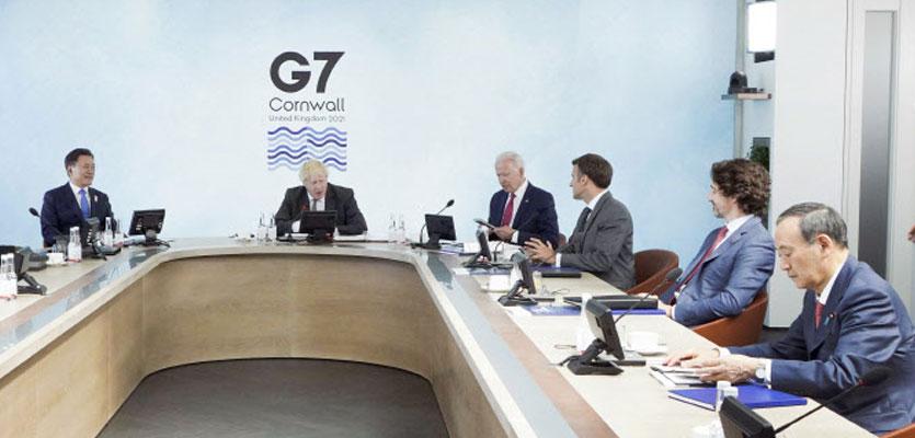 """文대통령, G7회의서 """"코백스AMC에 올해 1억弗·내년 1억弗 제공"""""""