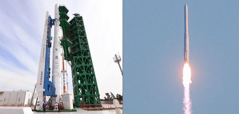[속보]국산 우주로켓 누리호 발사