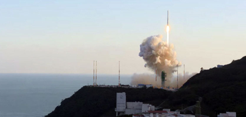 [속보]국산 로켓 누리호 비행고도 650km 통과