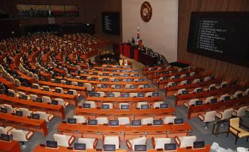 국회 본회의, '통합당 불참'