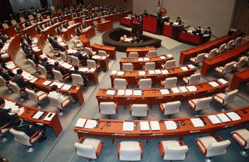 '예결위 전체회의 불참한 통합당'