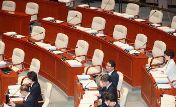 '통합당 불참, 예결위 전체회의 시작'
