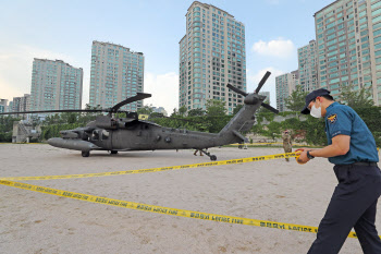 미군 소속 헬리콥터, 엔진 고장으로 한강에 비상착륙