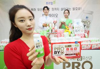 특허유산균으로 장까지 살아가는 발효유 '프로바이오'