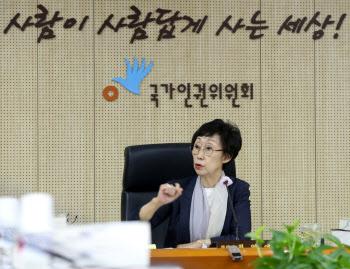 회의 주재하는 최영애 국가인권위원장