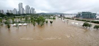 폭우로 잠긴 한강공원