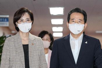 국무회의 참석하는 정세균 총리-유은혜 부총리